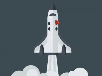 Illustration d'une fusée qui décolle