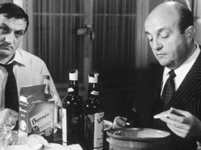 Lino Ventura et Bernard Blier dans Les tontons flingueur