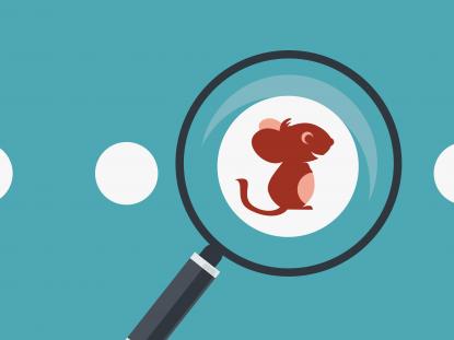 Illustration d'une loupe focalisée sur la souris Smice